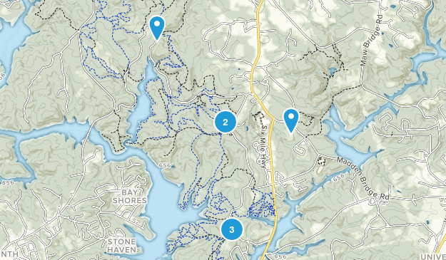 Central, South Carolina Hiking Map
