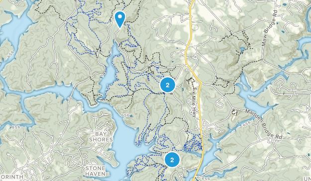 Central, South Carolina Mountain Biking Map