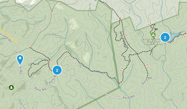 Clover, South Carolina Dogs On Leash Map