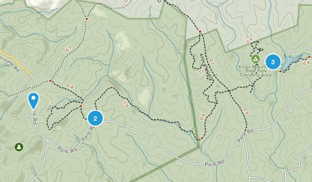 Clover, South Carolina Hiking Map