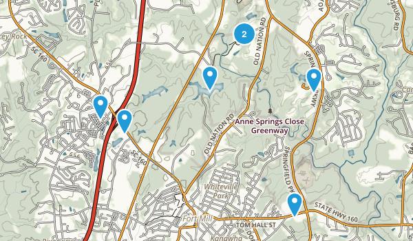 Fort Mill, South Carolina Hiking Map