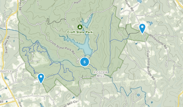 Foster Mill, South Carolina Hiking Map