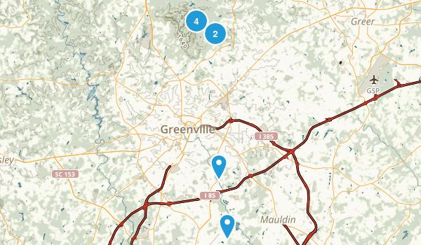 Greenville, South Carolina Birding Map