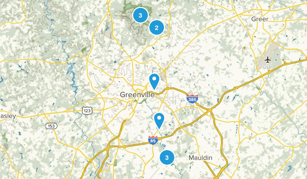 Greenville, South Carolina Kid Friendly Map