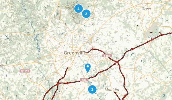 Greenville, South Carolina Walking Map