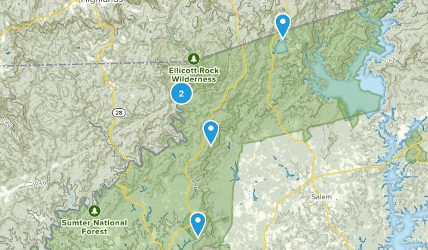 Mountain Rest, South Carolina Fishing Map
