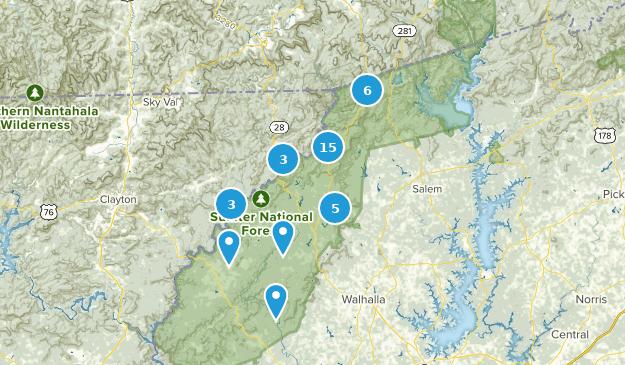 Mountain Rest, South Carolina Hiking Map