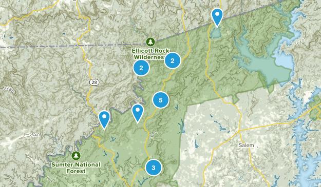 Mountain Rest, South Carolina Nature Trips Map