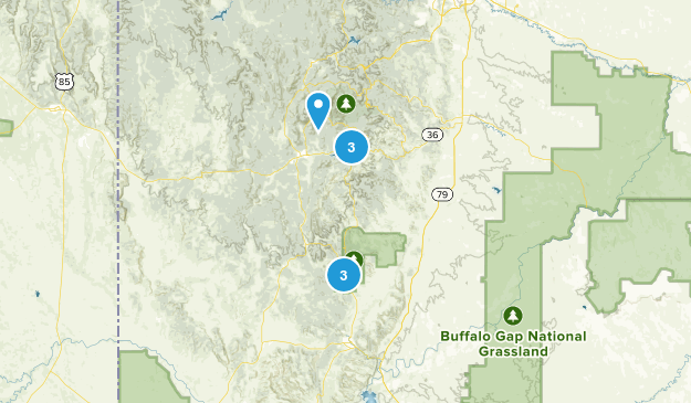 Custer, South Dakota Trail Running Map
