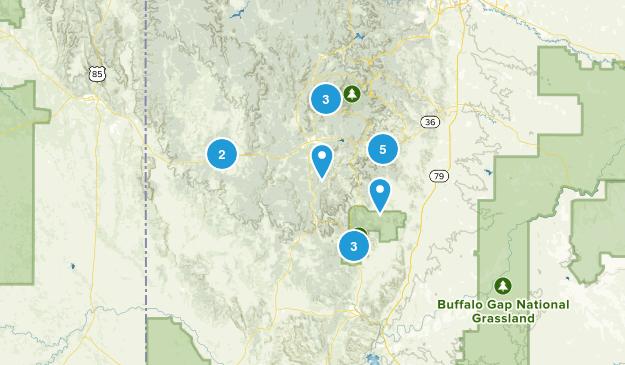 Custer, South Dakota Views Map