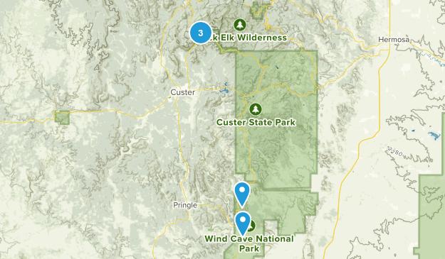 East Custer, South Dakota Views Map