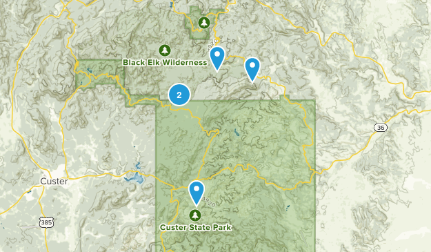 Hermosa, South Dakota Hiking Map
