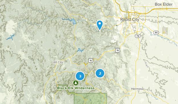 Keystone, South Dakota Hiking Map