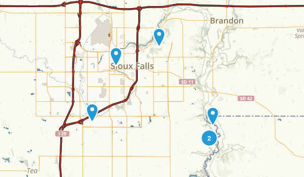 Sioux Falls, South Dakota Birding Map