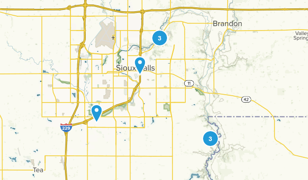 Sioux Falls, South Dakota Forest Map