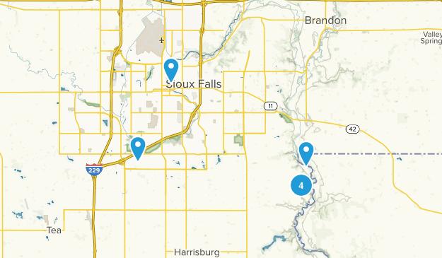 Sioux Falls, South Dakota River Map