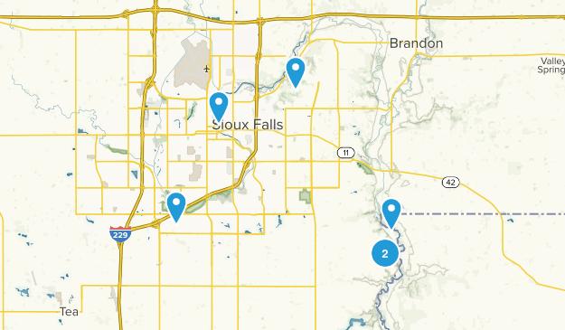 Sioux Falls, South Dakota Walking Map