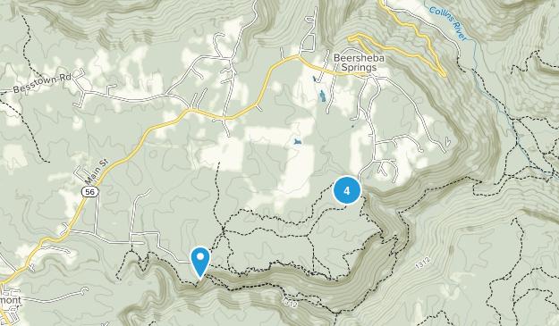 Beersheba Springs, Tennessee Hiking Map