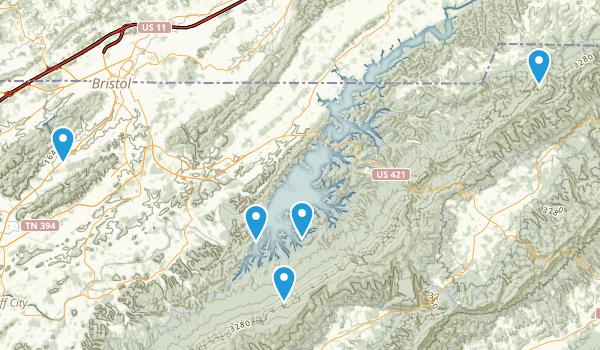 Bristol, Tennessee Hiking Map
