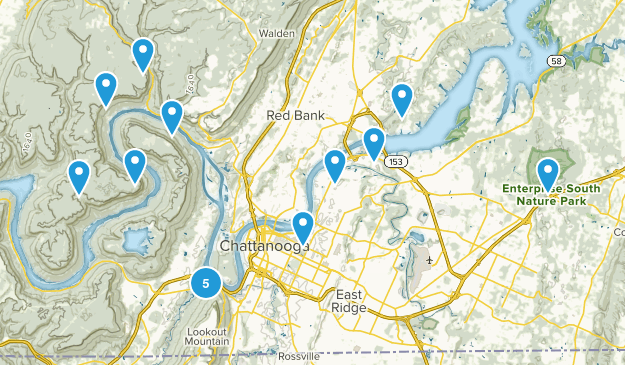 Chattanooga, Tennessee Kid Friendly Map