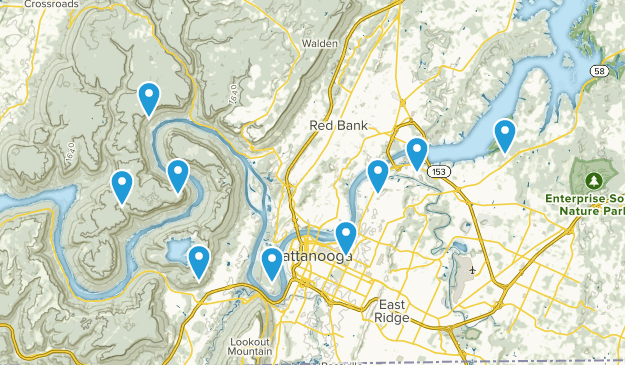 Chattanooga, Tennessee River Map