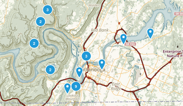 Chattanooga, Tennessee Views Map