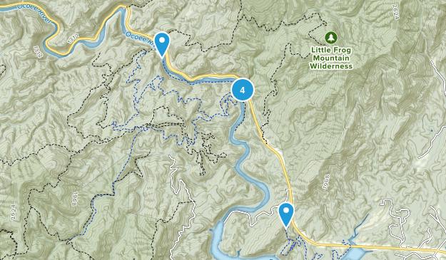 Copperhill, Tennessee Mountain Biking Map