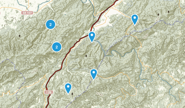 Erwin, Tennessee Hiking Map
