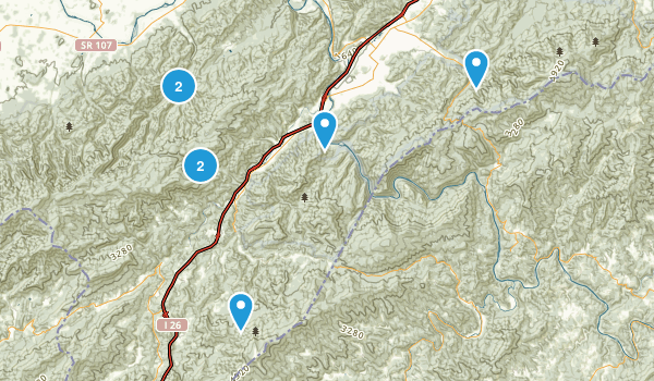 Erwin, Tennessee Nature Trips Map