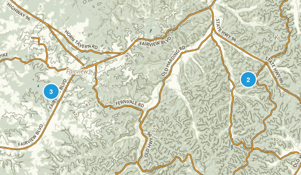 Fairview, Tennessee Hiking Map