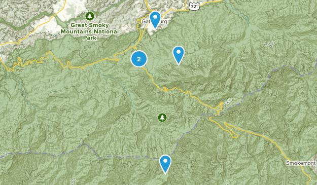 Gatlinburg, Tennessee Wheelchair Friendly Map