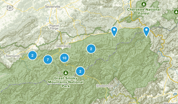 Gatlinburg, Tennessee River Map