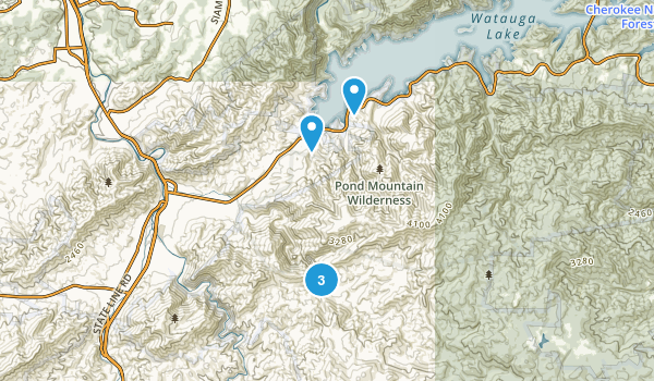 Hampton, Tennessee Camping Map