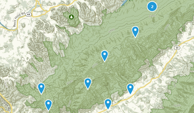 Hunter, Tennessee Hiking Map