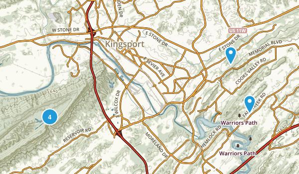 Kingsport, Tennessee Birding Map