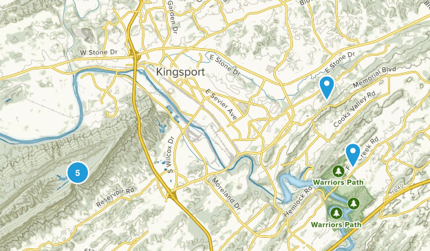 Kingsport, Tennessee Forest Map
