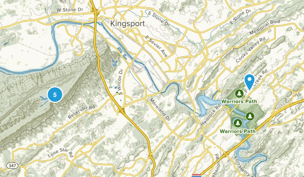 Kingsport, Tennessee Nature Trips Map