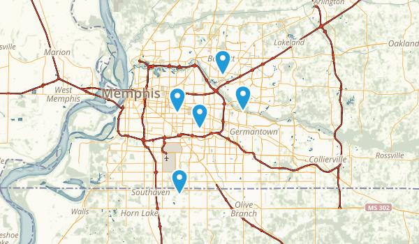 Memphis, Tennessee Wheelchair Friendly Map