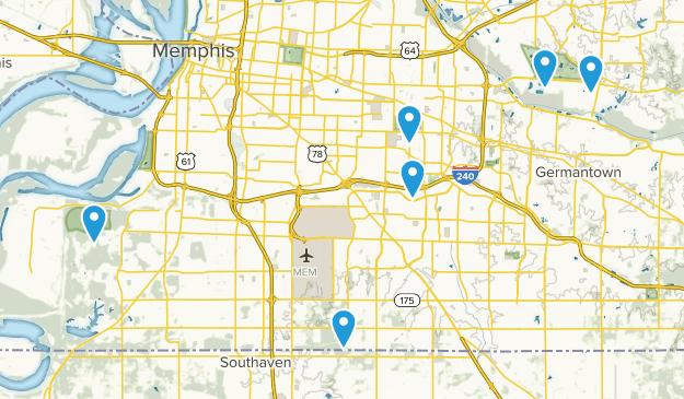 Memphis, Tennessee Birding Map