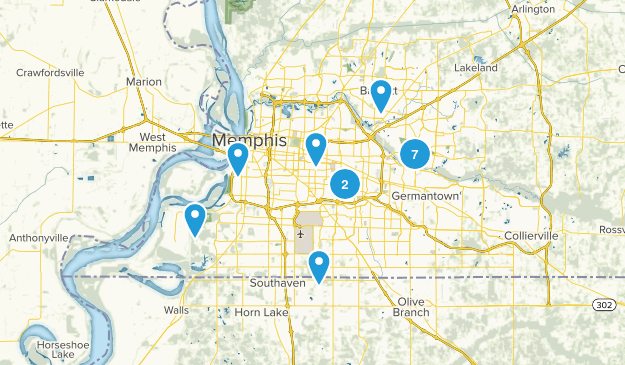 Memphis, Tennessee Kid Friendly Map