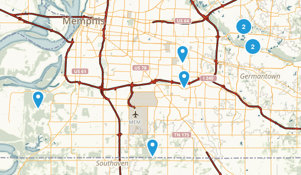 Memphis, Tennessee Nature Trips Map