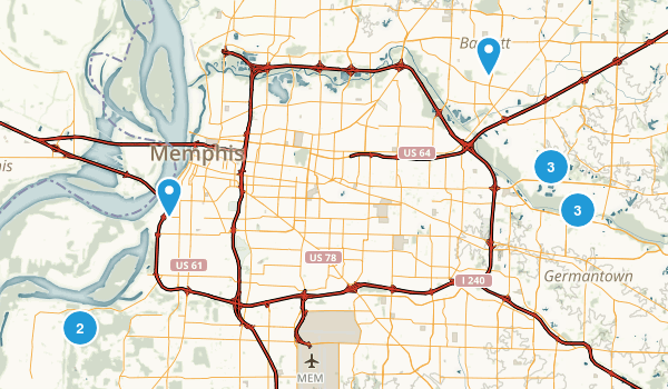 Memphis Tennessee On Us Map fidorme