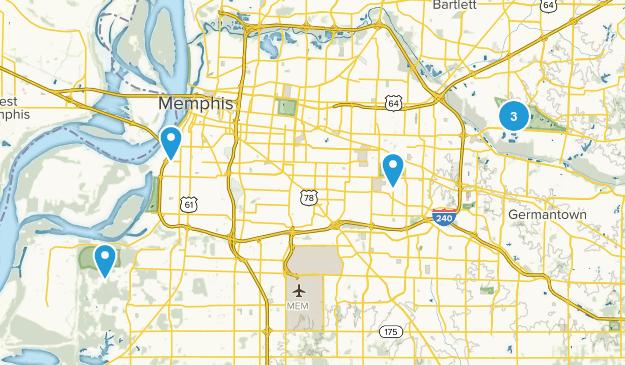 Memphis, Tennessee Views Map