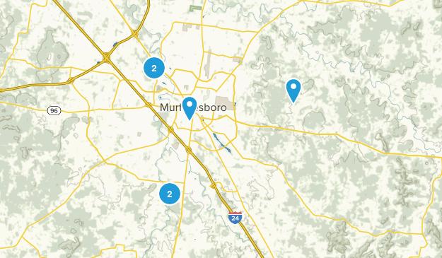 Murfreesboro, Tennessee Walking Map
