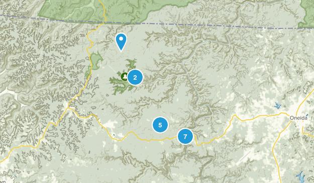 Oneida, Tennessee Hiking Map