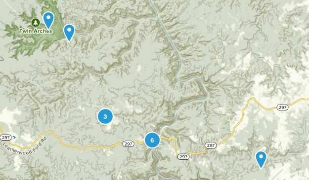 Oneida, Tennessee Views Map