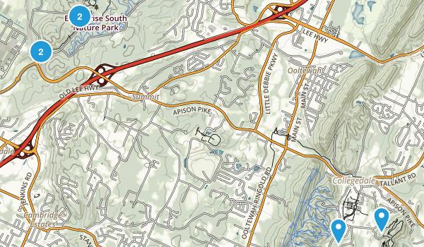 Ooltewah, Tennessee Walking Map