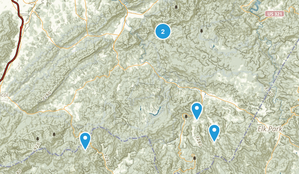 Roan Mountain, Tennessee Dogs On Leash Map