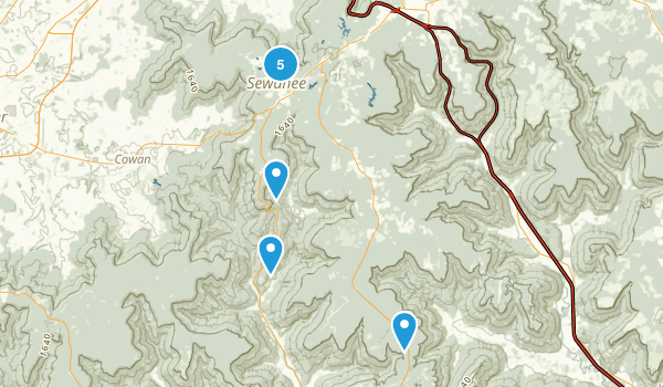 Sewanee, Tennessee Forest Map