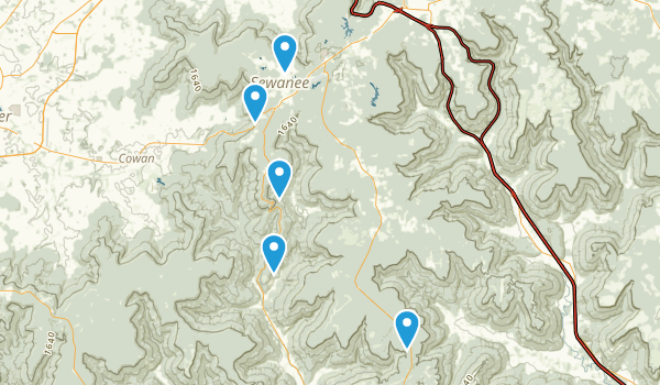 Sewanee, Tennessee Trail Running Map